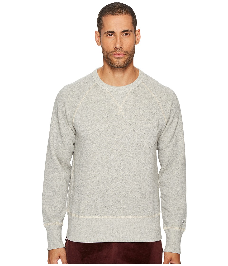 Todd Snyder + Champion - Pocket Sweatshirt (Light Grey Mix) Mens Sweatshirt