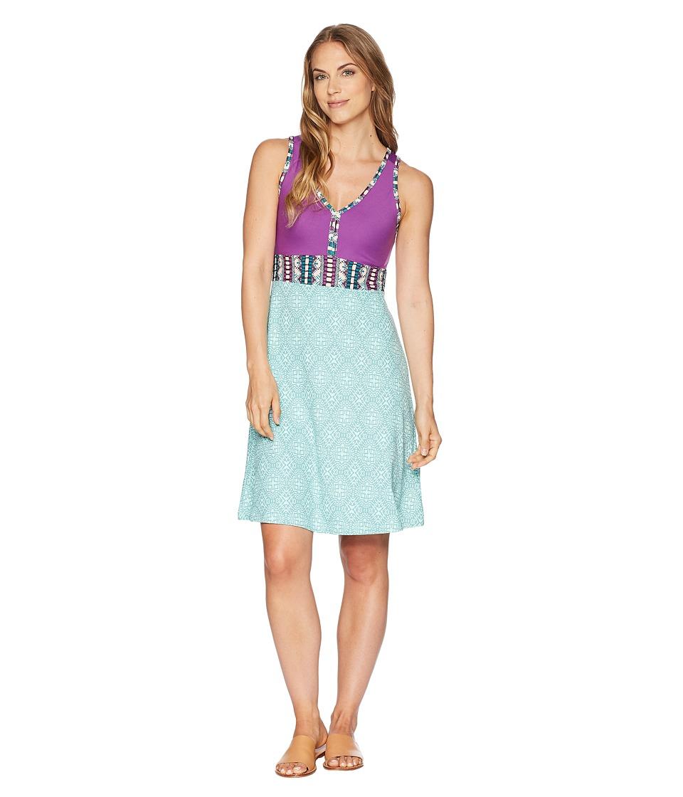 Marmot - Becca Dress (Clear Sky Frolic/Bright Violet) Womens Dress