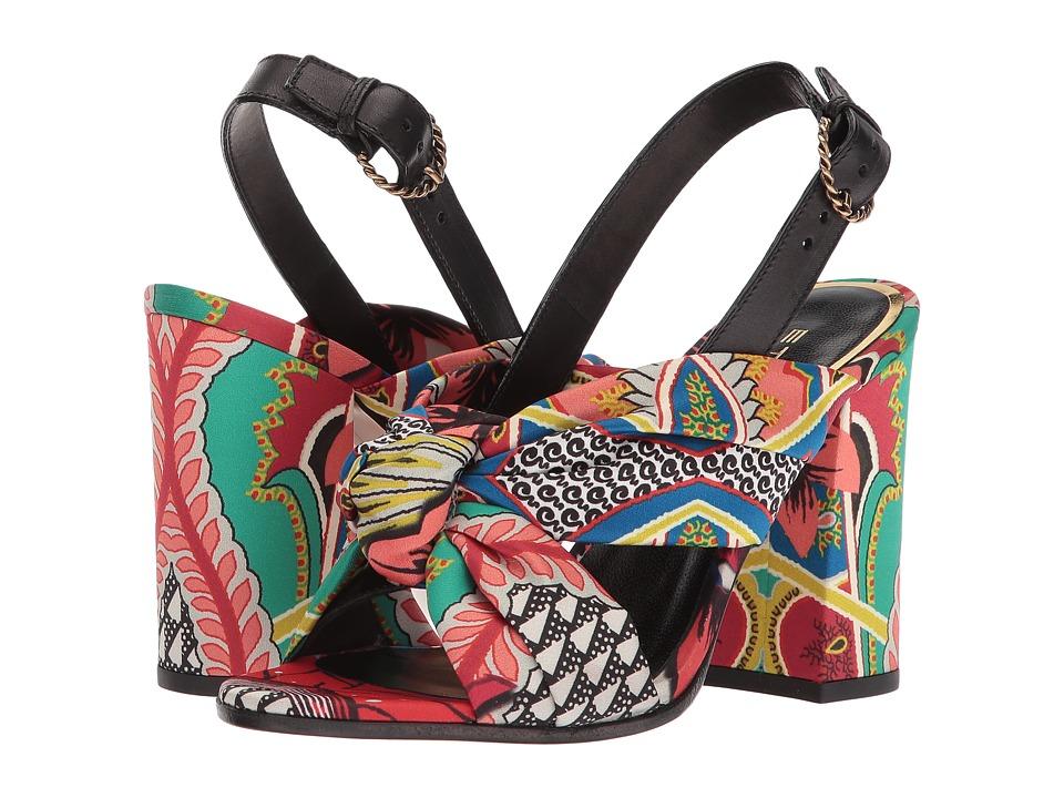 Etro - Printed Sandal (Multi) Women's Sandals