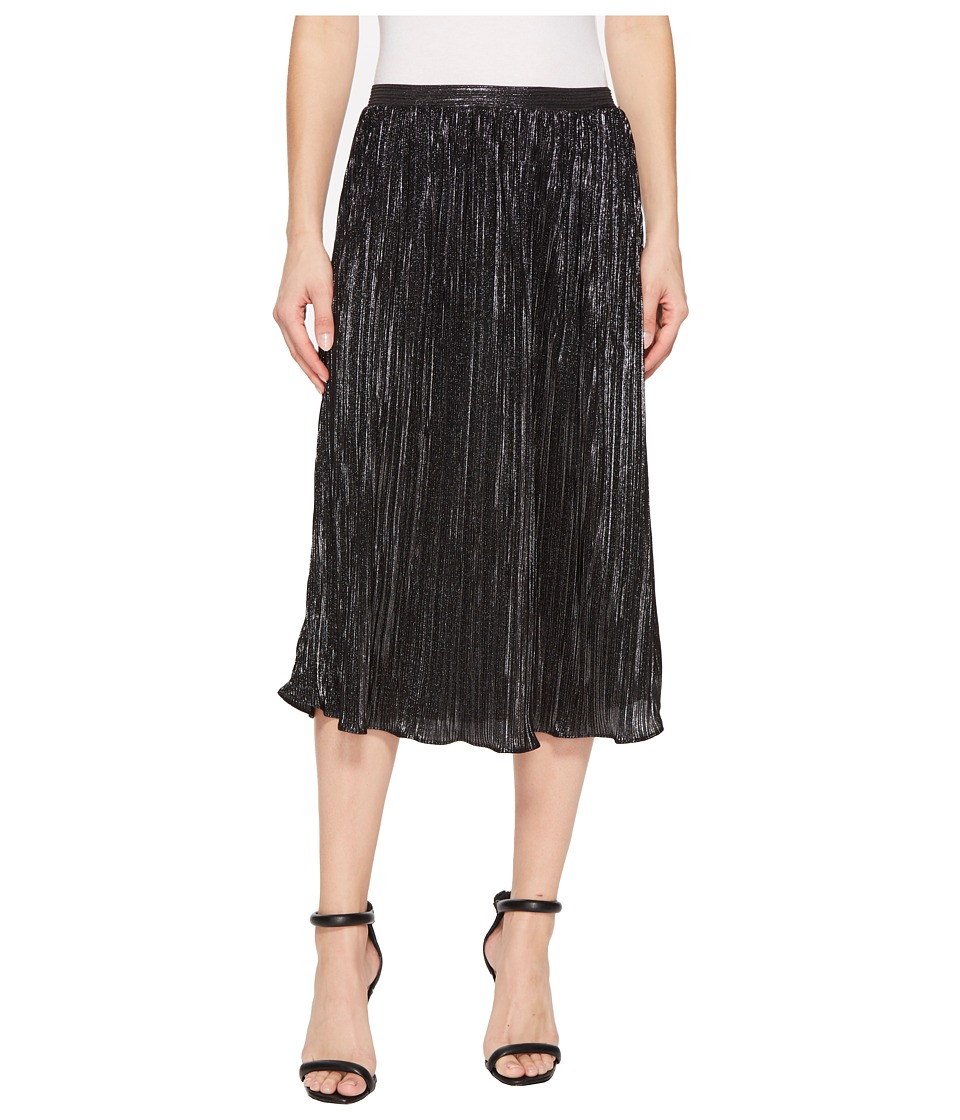 Nally & Millie Pleated Skirt (Silver/Black) Women