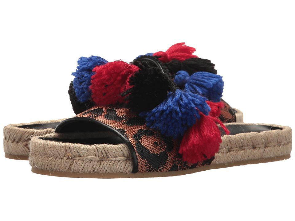 Etro - Pom Pom Slide (Black) Women's Sandals