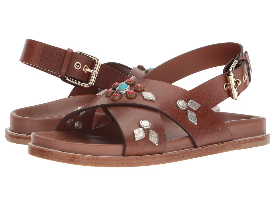 Etro - Studded Crossover Sandal (Cuoio) Women's Sandals
