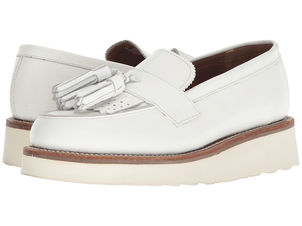 Grenson - Clara Loafer (White) Womens Shoes