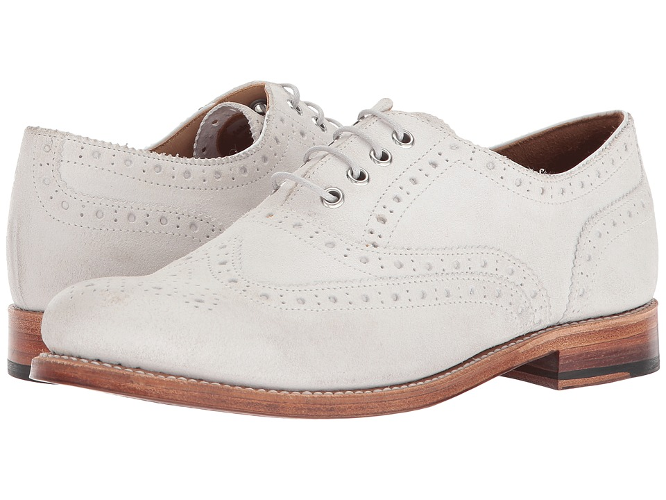 1930s Style Shoes – Art Deco Shoes Grenson - Rose Oxford White Womens Shoes $300.00 AT vintagedancer.com