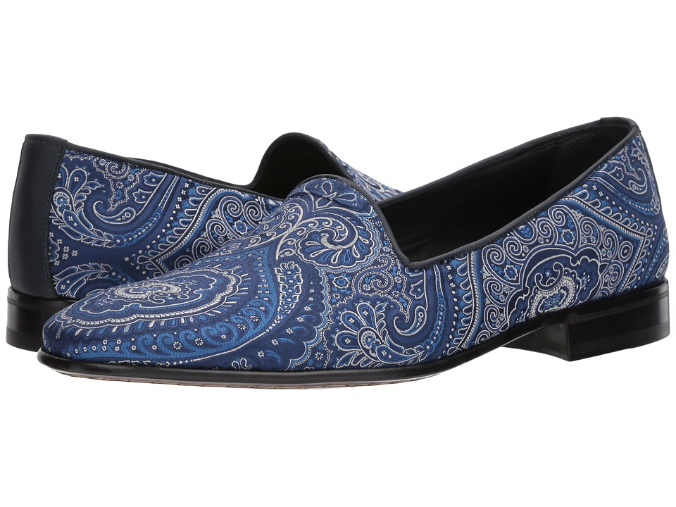 Etro - Paisley Evening Loafer (Blue) Mens Lace up casual Shoes