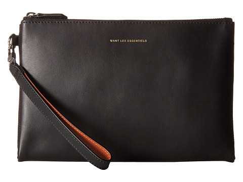WANT Les Essentiels Barajas Double Zip Porfolio - Black