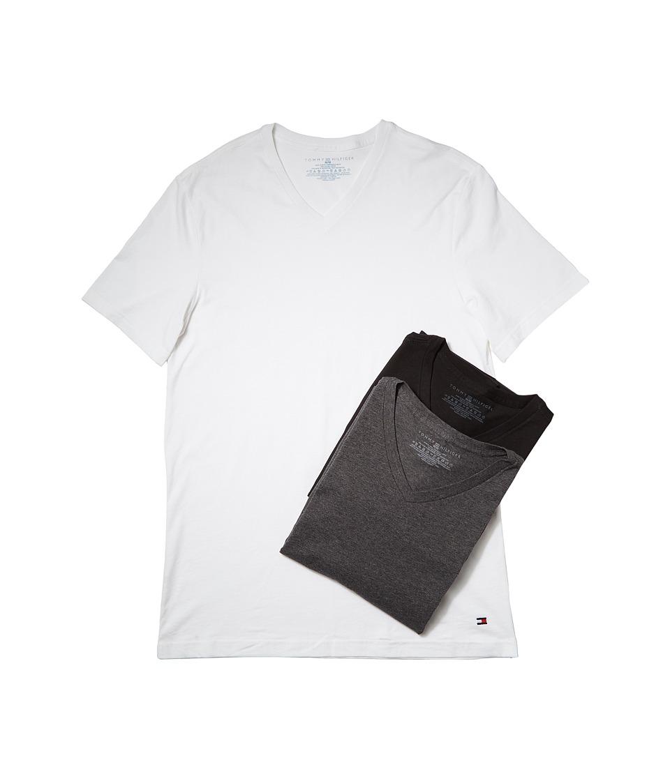 Tommy Hilfiger Cotton V-Neck Shirt 3-Pack (Winter White) ...
