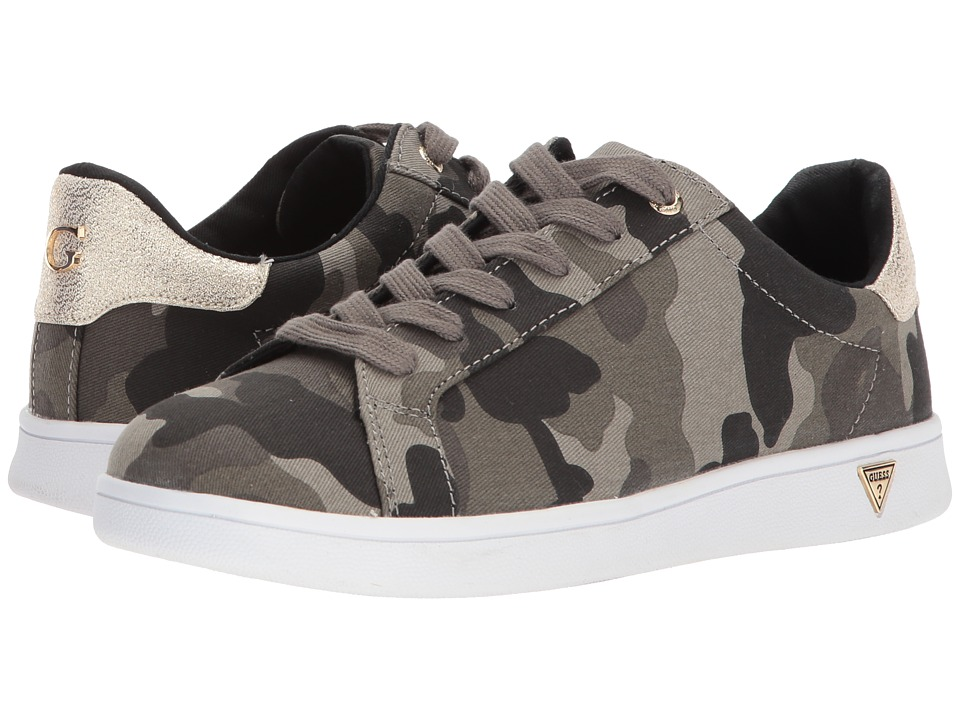 GUESS - Betsy (Olive/Gold Fabric) Womens Lace up casual Shoes