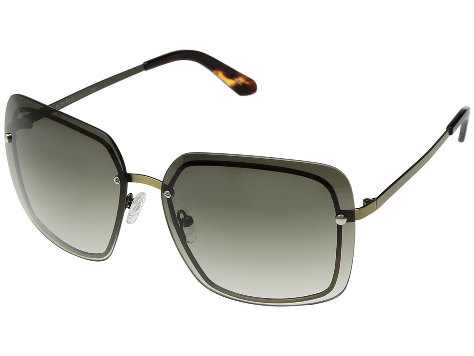 PERVERSE Sunglasses Fringe (Gold/Gray Gradient) Fashion Sunglasses