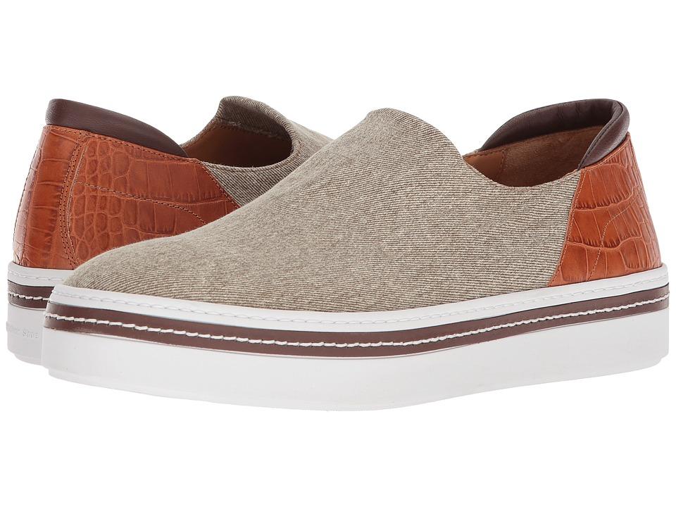 Right Bank Shoe Cotm - Stan Sneaker (Sand) Mens Slip on  Shoes