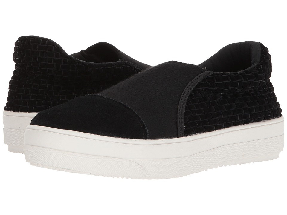bernie mev. Mid Dynasty (Black Velvet) Slip-On Shoes