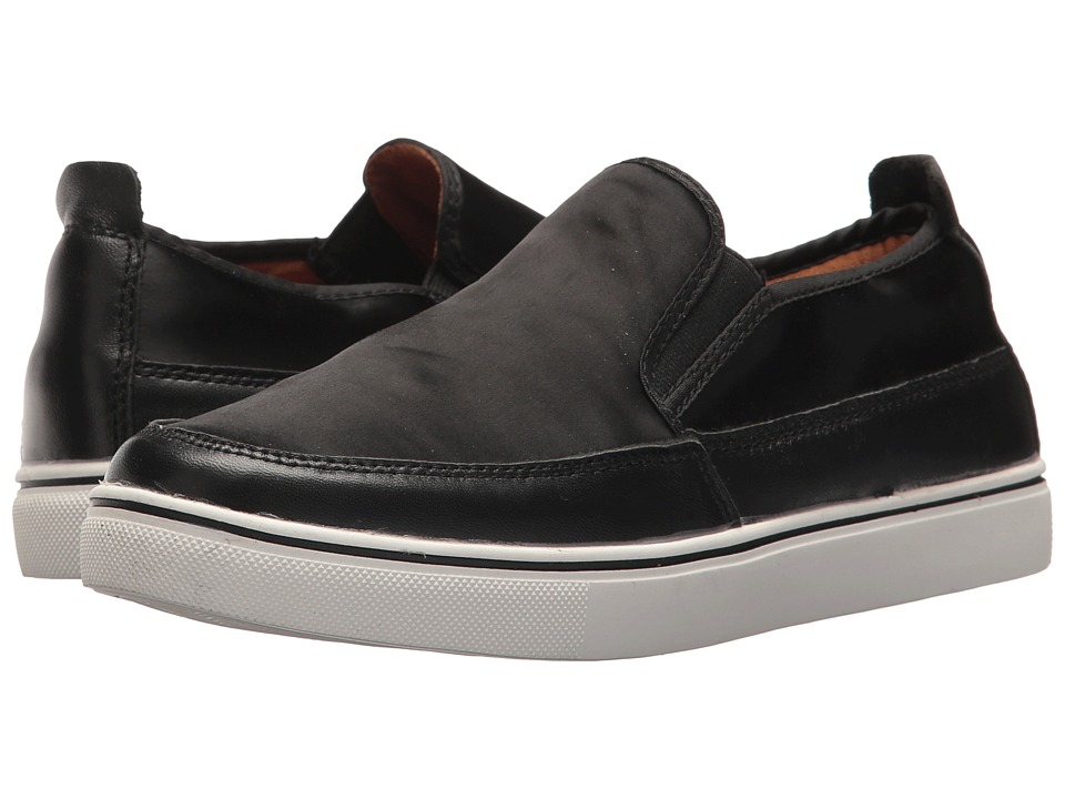 bernie mev. Lara (Black Satin) Slip-On Shoes