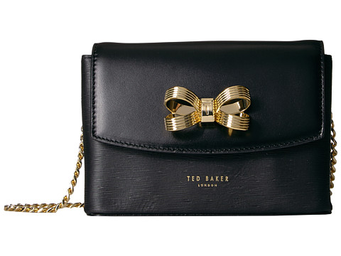 Ted Baker Looped Bow Micro Crossbody Bag - Black
