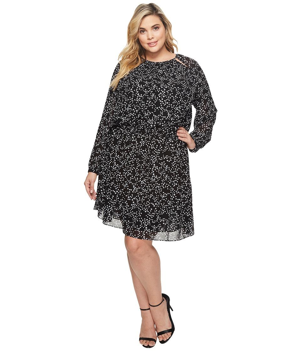 Michael Kors Plus Size Shooting Star Dress (Black/White) ...