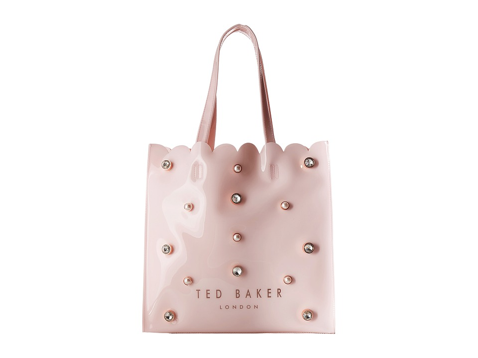 Ted Baker Crystal and Pearl Large Icon Bag (Mid Pink) Han...