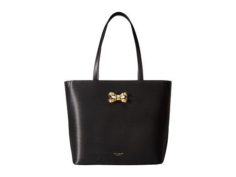 Ted Baker Looped Bow Leather Shopper - Black
