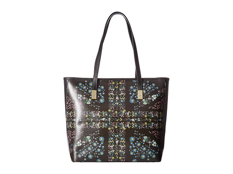 Ted Baker Unity Floral Leather Shopper - Black