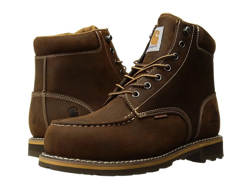 Carhartt 6 Moc Toe Lug Steel Toe (Dark Bison Oil Tanned) Men