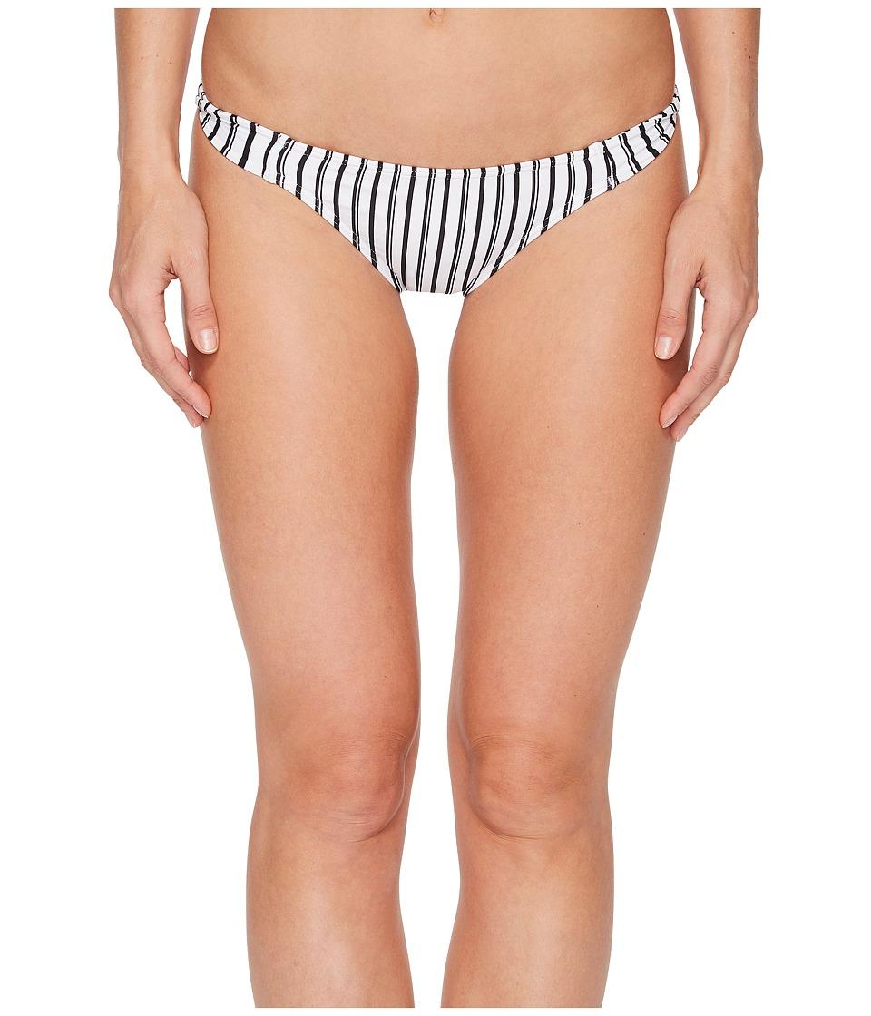 O'Neill Highway Stripe Twist Tab Side Bikini Bottom (White/Black)
