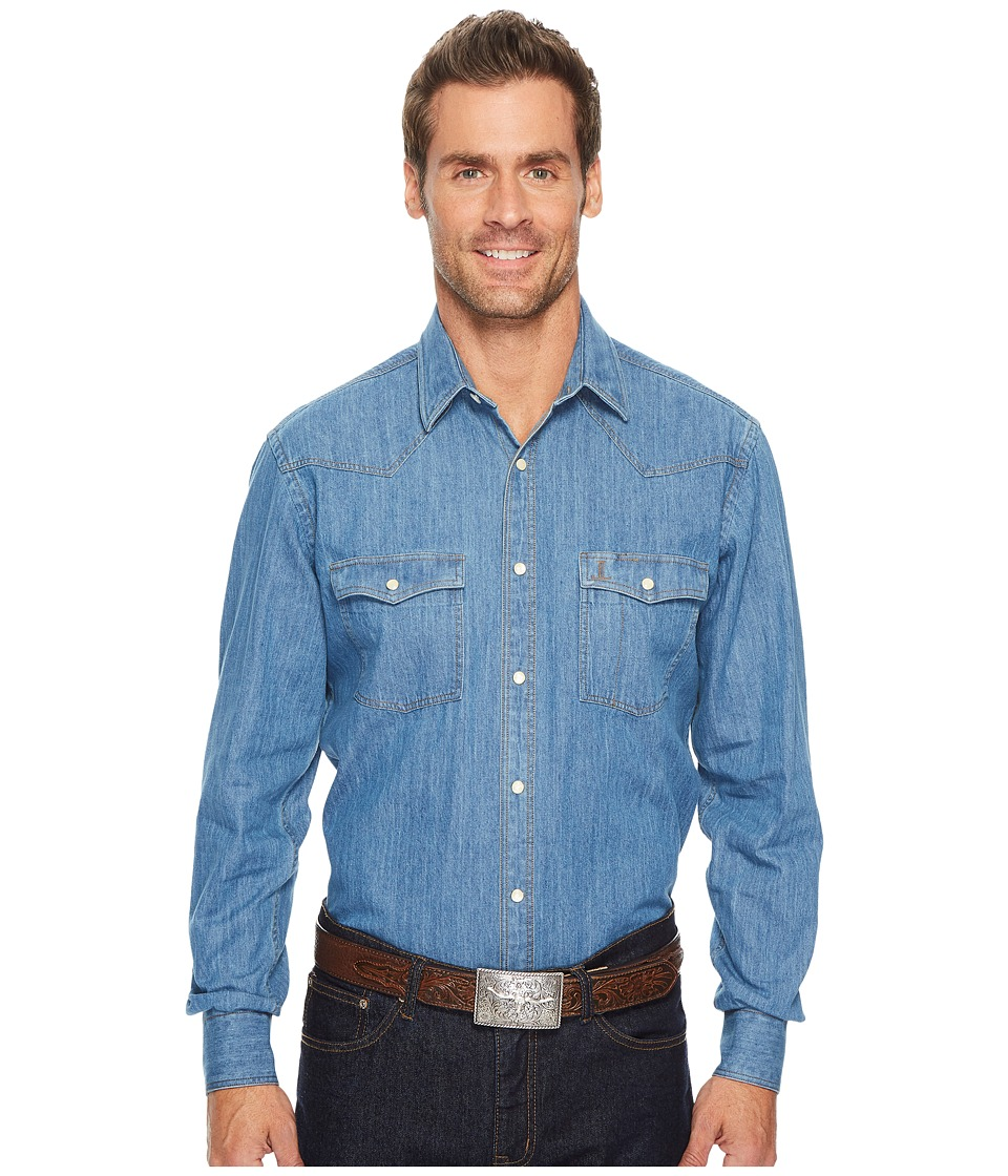 Lucchese El Paso (Denim) Men's Long Sleeve Button Up