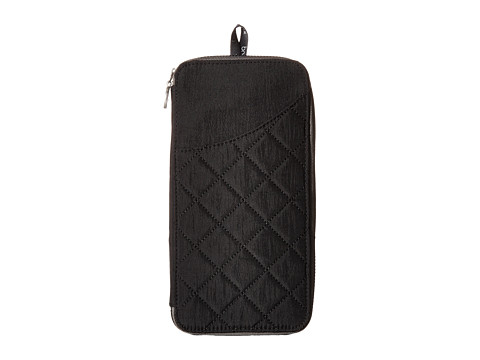 Baggallini RFID Travel Wallet - Black/Charcoal