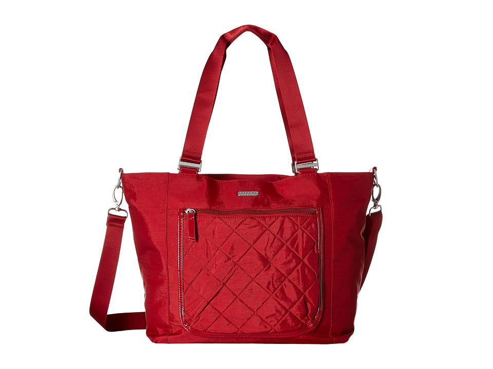 Baggallini - Pocket Laptop Tote (Red Quilt) Tote Handbags