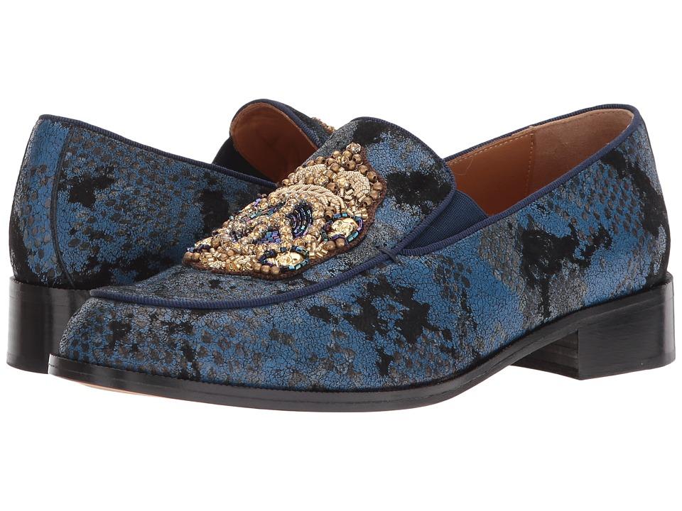 Right Bank Shoe Cotm - Azusa Loafer (Blue) Women's Shoes