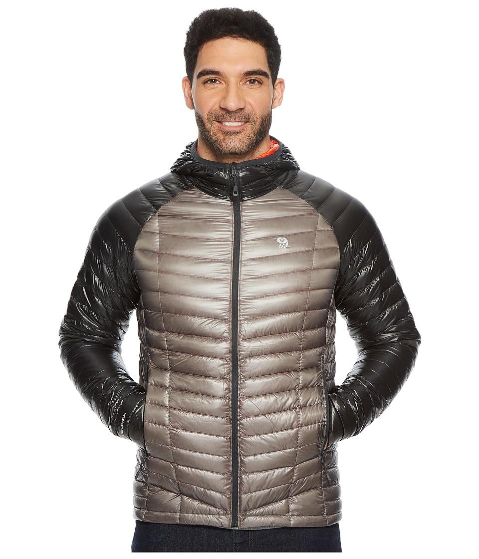 Mountain Hardwear - Ghost Whisperer Hooded Down Jacket (Manta Grey/Shark) Mens Coat