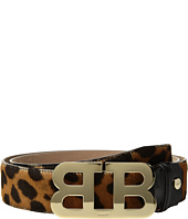 Bally - Mirror B Adjustable Pony Hide Belt