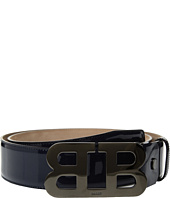 Bally - Mirro B Adjustable Patent Leather Belt