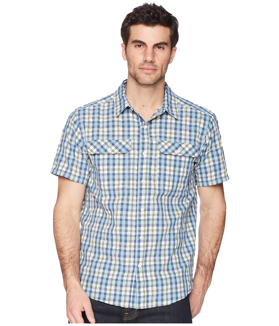 Mountain Hardwear - Canyon AC Short Sleeve Shirt (Blue Granite) Mens Short Sleeve Button Up