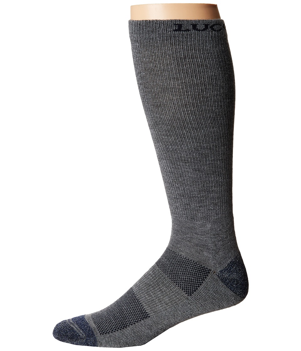 Lucchese - Multi-Blend Socks (Grey) Mens Crew Cut Socks Shoes
