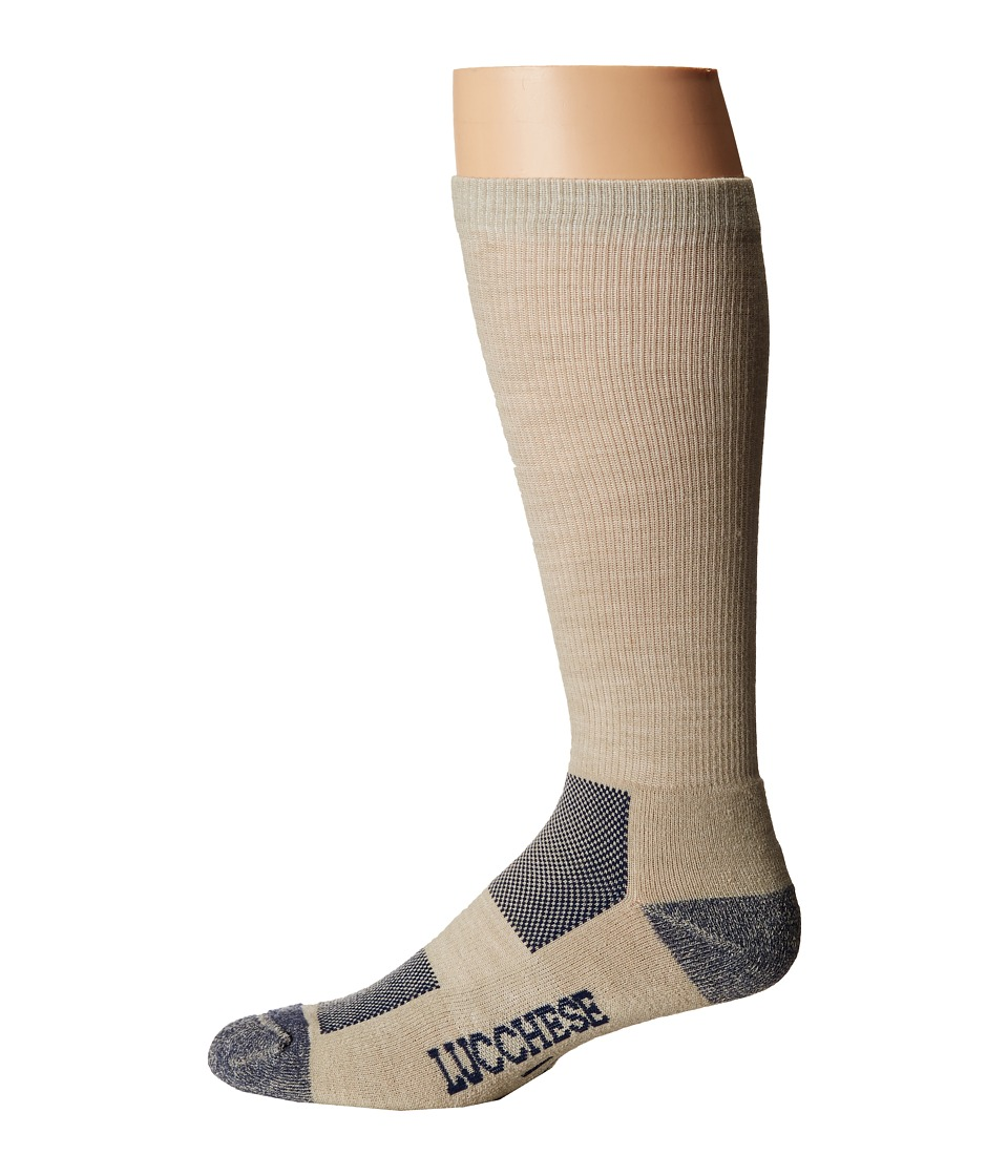 Lucchese - Wool Socks (Tan) Mens Crew Cut Socks Shoes