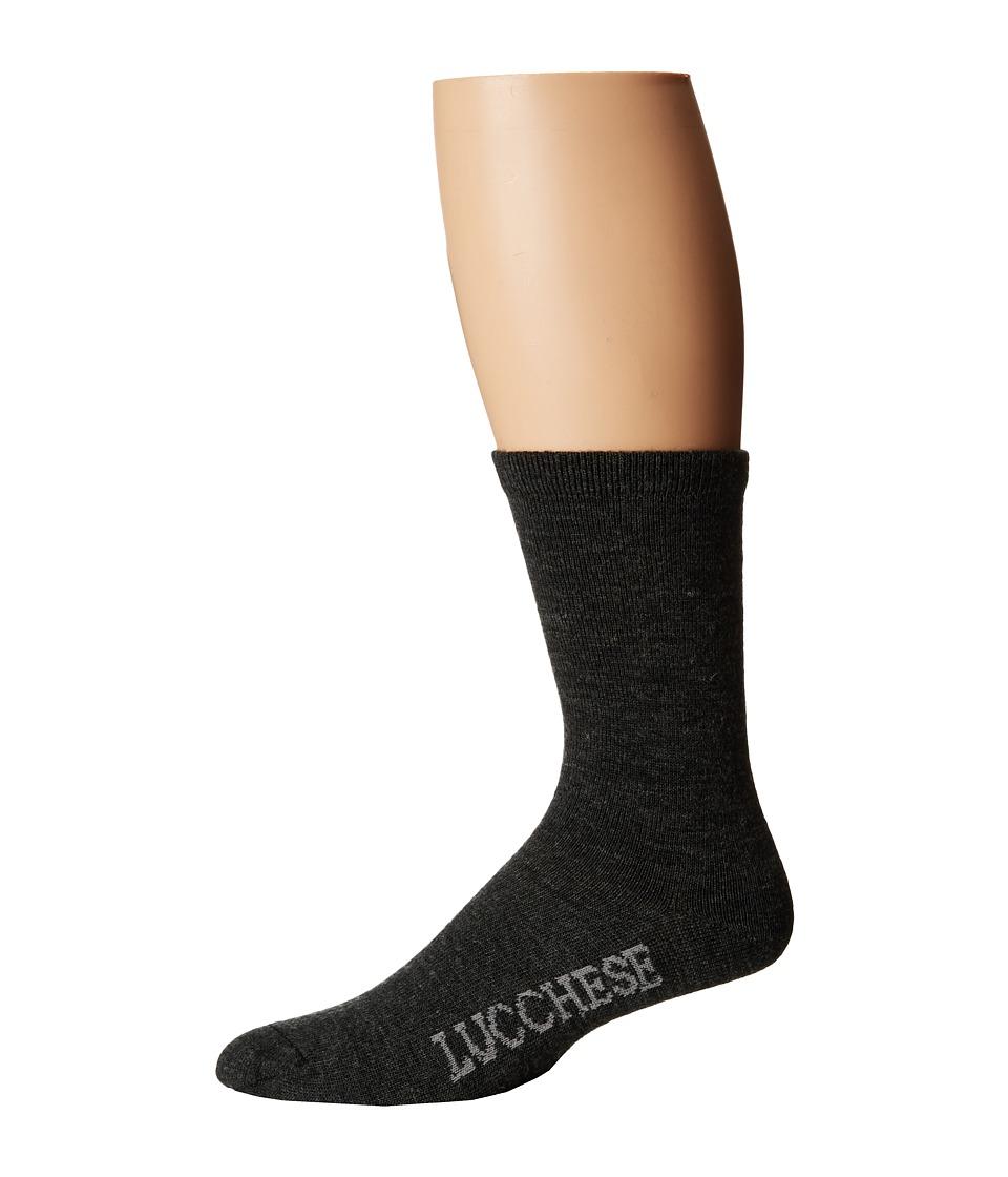 Lucchese - Crew Socks (Charcoal) Womens Crew Cut Socks Shoes