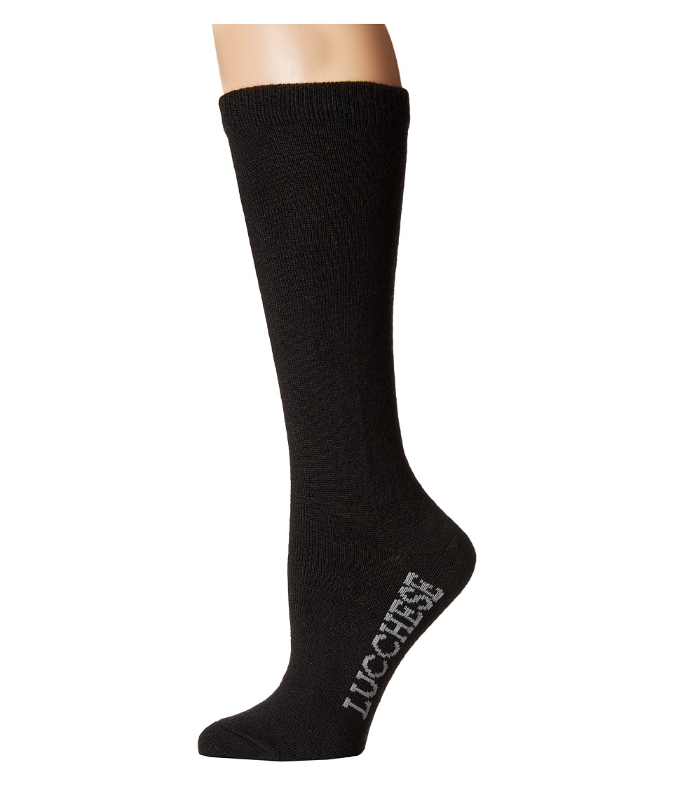Lucchese - Knee High Socks (Black) Womens Knee High Socks Shoes