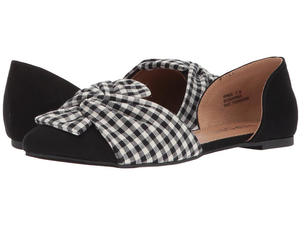Report - Bossina (Black/White) Womens Shoes