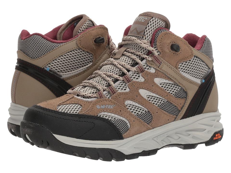Hi-Tec V-Lite Wildfire Mid I Waterproof (Taupe/Warm Grey/Grape Wine) Women's Hiking Boots