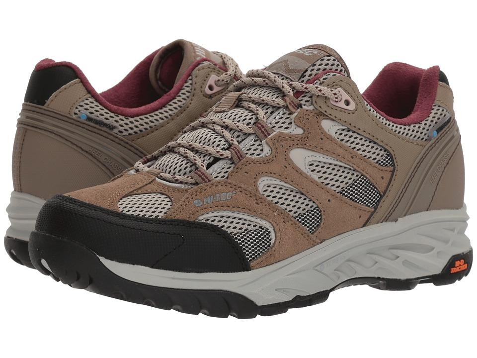 Hi-Tec V-Lite Wildfire Low I Waterproof (Taupe/Warm Grey/Grape Wine) Women's Hiking Boots