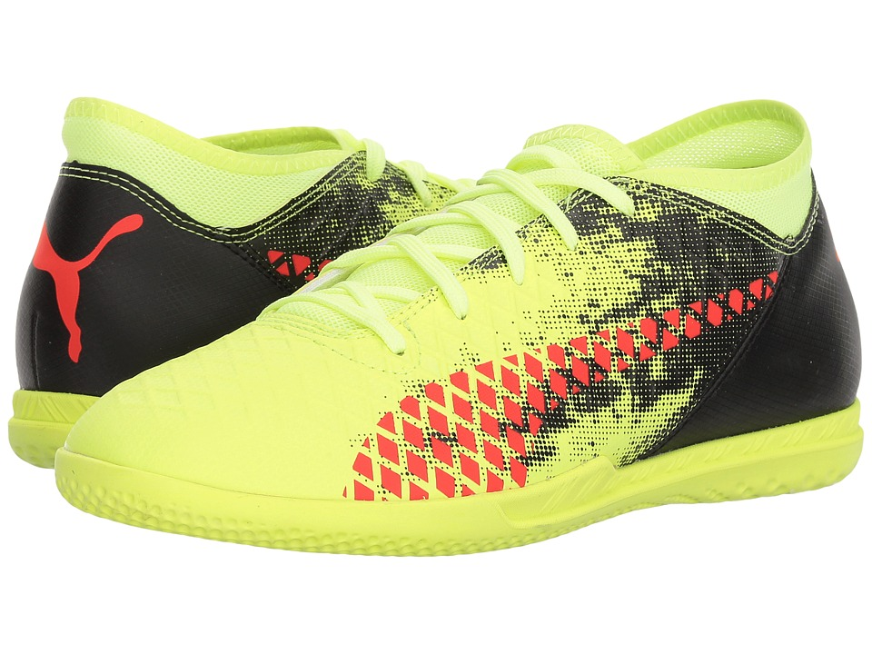 Puma Kids Future 18.4 IT Soccer (Little Kid/Big Kid) (Fizzy Yellow/Red Blast/Puma Black) Kids Shoes