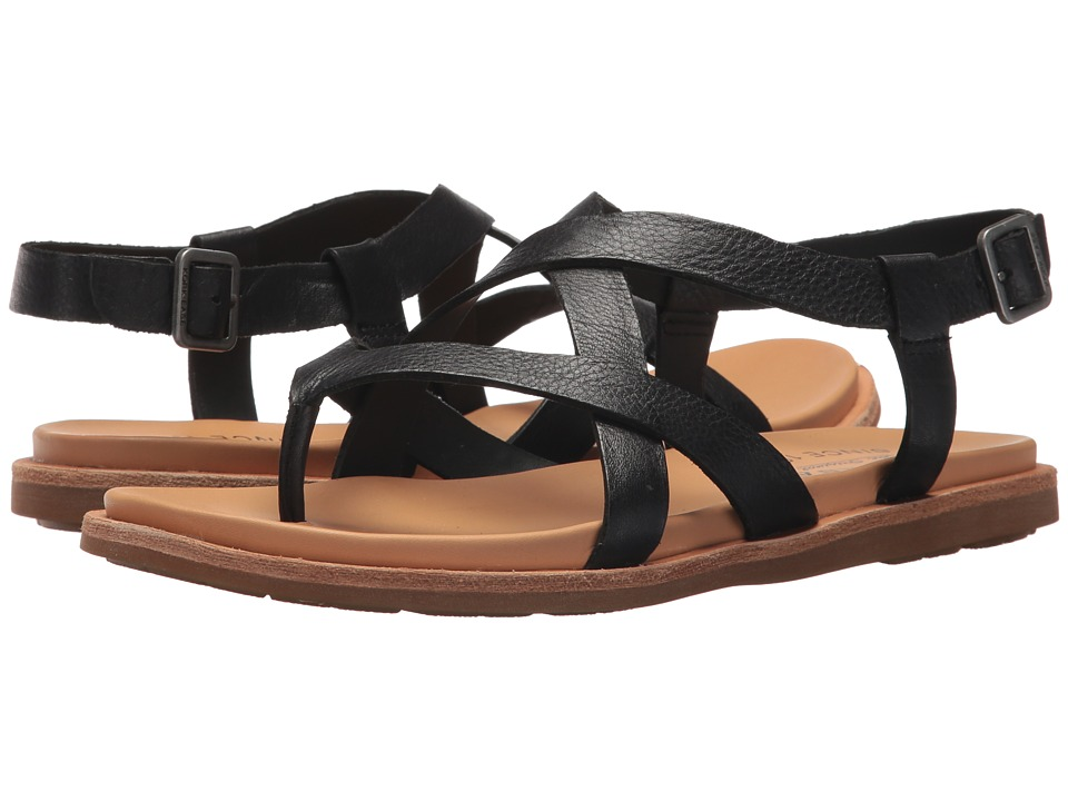 Kork-Ease Yarbrough (Black Full Grian Leather) Sandals