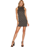 ROMEO & JULIET COUTURE - Sleeveless Mock Neck Geo Knit Dress