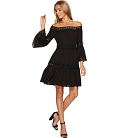 ROMEO & JULIET COUTURE - 3/4 Bell Sleeve Lace Trim Dress