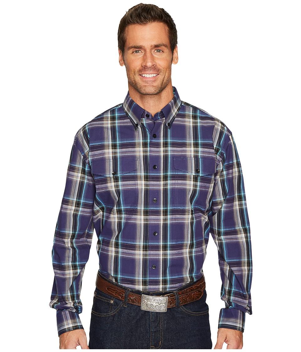 Roper 1260 Plaid Long Sleeve Top (Purple) Men