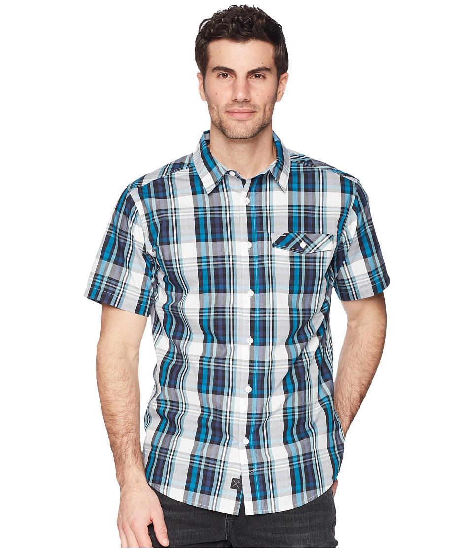 Mountain Hardwear - Farthingtm S/S Shirt (Lakeshore Blue) Mens Short Sleeve Button Up
