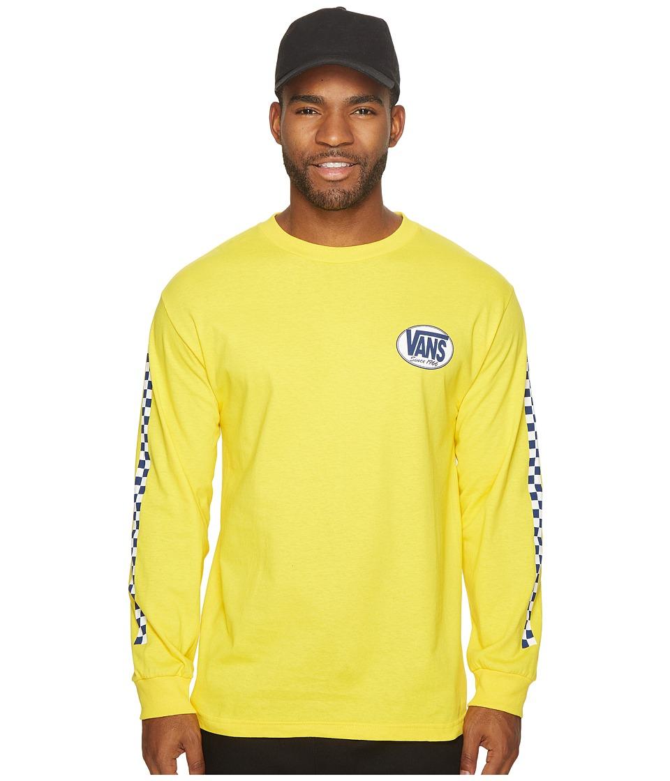 Vans Oval Long Sleeve Tee (Yellow) Men