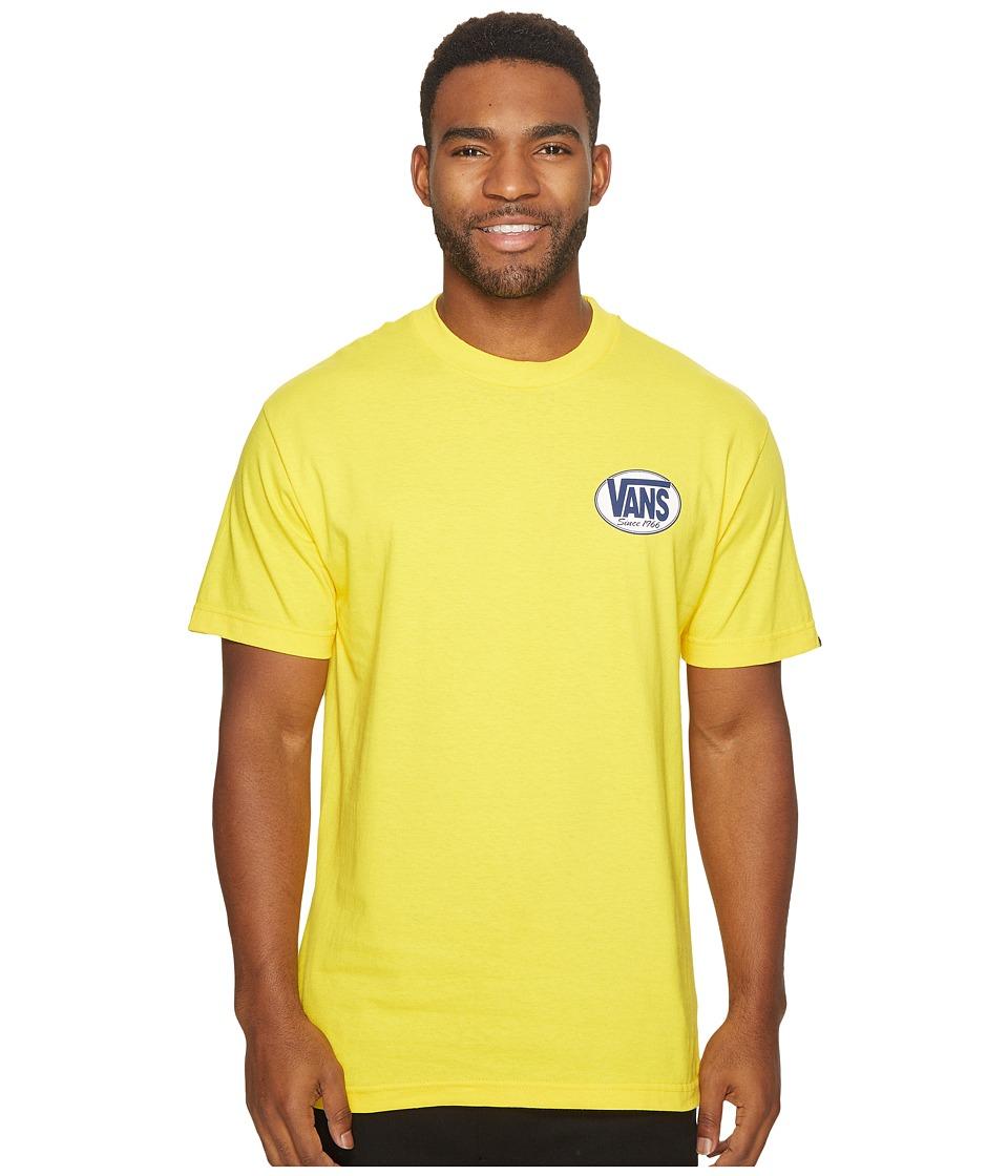 Vans Oval Short Sleeve Tee (Yellow) Men