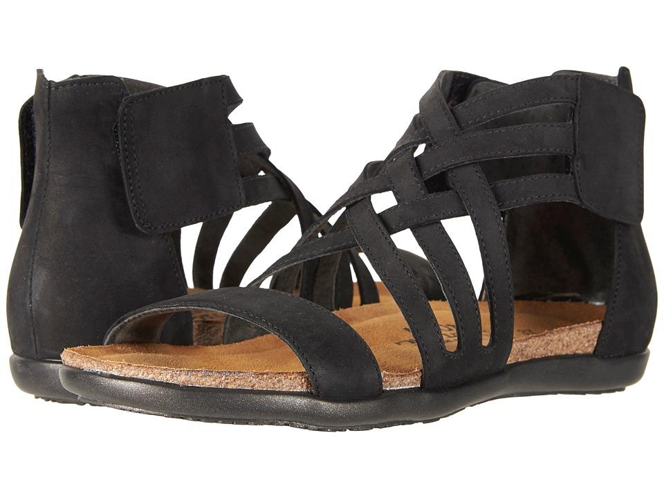 Naot Marita (Black Velvet Nubuck) Women's Shoes