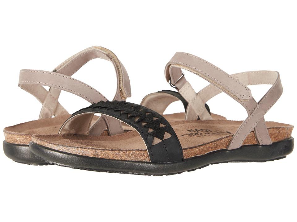 Naot Mable (Stone Nubuck/Oily Coal Nubuck/Khaki Beige Leather) Women's Shoes
