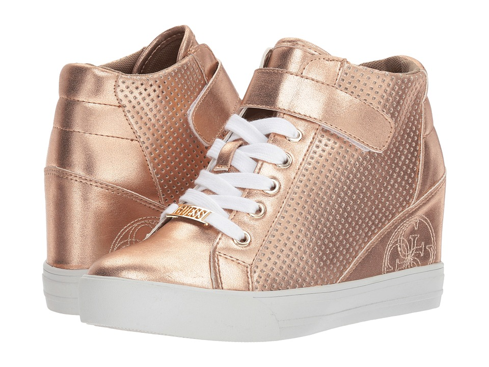 Guess Decia 2 (Rose Gold Synthetic 1) Women's Lace-up Boots
