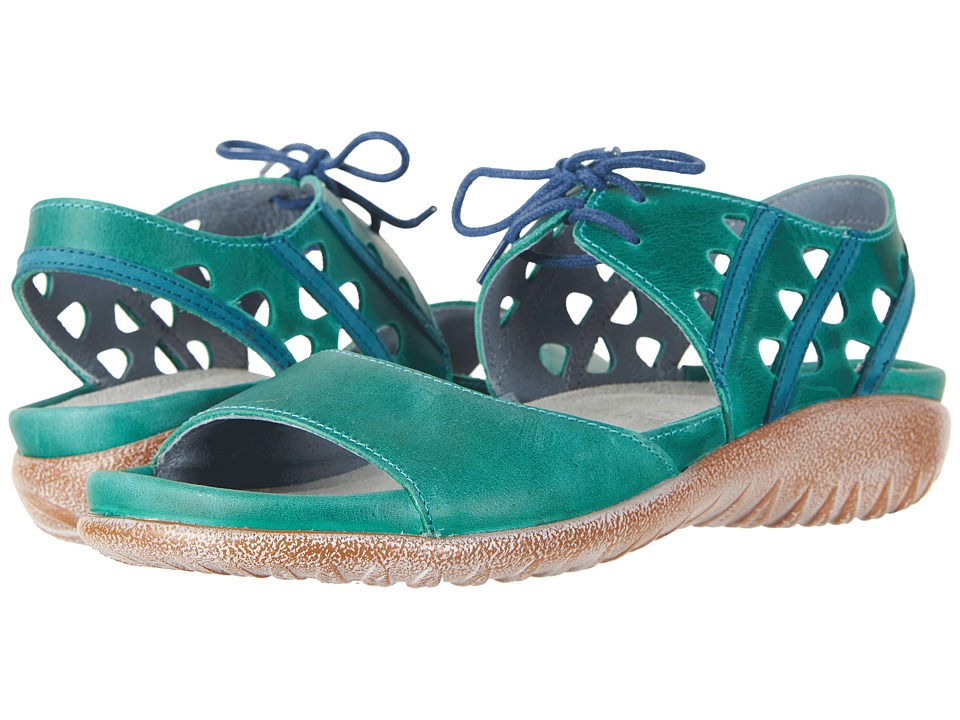 Naot Mangere (Oily Emerald Nubuck/Teal Nubuck) Women's Shoes